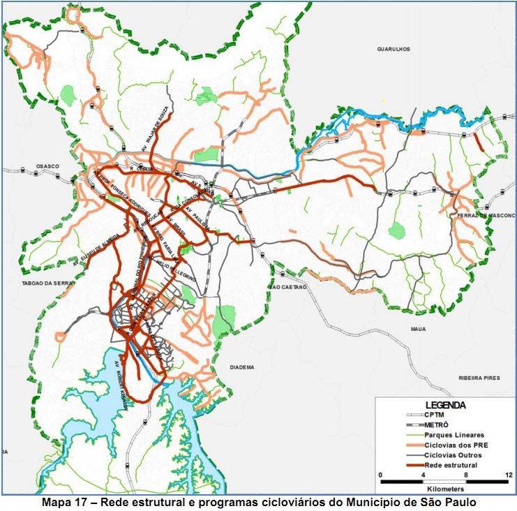 sykkelsti kart São Paulo sykkelsti kart   Kart over São Paulo sykkelsti (Brasil) sykkelsti kart