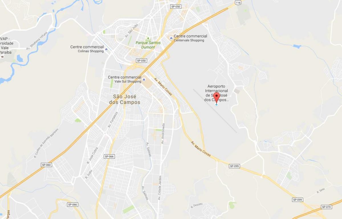 internasjonale kart Internasjonale flyplassen i São José dos Campos kart   Kart over  internasjonale kart