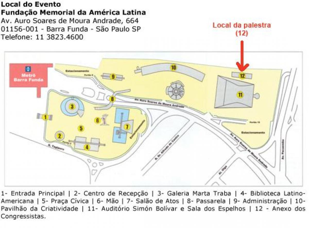 kart latin amerika Latin Amerika Memorial São Paulo kart   Kart over Latin Amerika  kart latin amerika